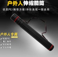 Wholesale 2016 new cm cm PE Telescopic arrow archery holder Arrow Tube Hunting Bag quiver for arrows with Adjustable back strap