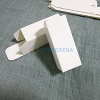 Wholesale 100pcs White Paper Box Perfume Essetial olil Cosmetic sample box Gift packaging boxes multi sizes available