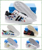 b and w - 2016 Newest Superstar W Shoes Women And Mens Superstar Metal Graffiti Running Shoes Sneakers Superstars Low Cut Sports Shoes Size