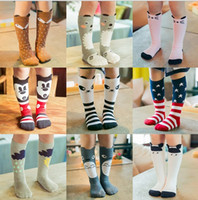 bear leggings - 2016 new baby cotton fox socks girls knee high bear socks stockings baby star footwear leggings socks baby chevron leg warmers