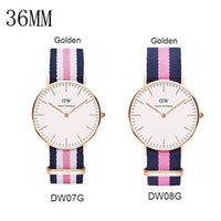 Wholesale Christmas luxury watches Daniel Wellington watch nylon women watches fashion DW watch quartz watch Atmos clock rejoles relogio masculino