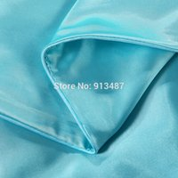 aqua blue comforter sets - Chinese solid silk smooth experience bedding sets aqua blue duvet cover linens Twin Queen King size quilt cover set