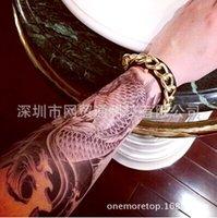 Wholesale New HX A disposable arm half armor on behalf of Japanese carp Tattoo Sticker waterproof