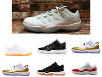 Wholesale White gold low Mens basketball shoes sneaker s Sports Shoes Leather Retro Sneakers Outdoors Athletics Shoes lows navy