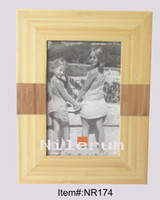 Wholesale modern natural and carbonized bamboo photo frame for inch picture