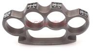 Wholesale Tungsten steel black QTY GILDED THICK STEEL BRASS KNUCKLE DUSTER commandos tungsten steel knuckles