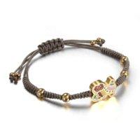 bear food chain - Bear Bracelets Black Brown Rope Hand Chain Fashion Bracelets Stainless Steel Bears Bracelet For Women Jewelry