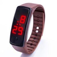 Wholesale New Sports Bracelet LED Watch Sport Watch Fashion Digital Watch Date Time Women Wristwatch Waterproof Colorful Rubber Band