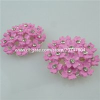 acrylic resin crafts - 13836 Pink Resin Flower Flatback Appliques For Phone Wedding Craft Making
