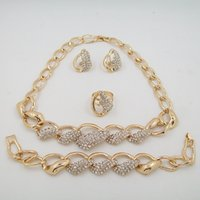 asian america - 18K Gold Plated Fashion Jewelry Sets Necklace Jewelry High Quality Factory Outlets In Europe And America