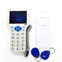 rfid handheld reader - Handheld Smart IC NFC ID Card Frequency RFID Copier Reader Writer Programmer with Keyfobs ID Cards