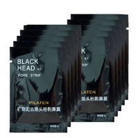 Wholesale 100pcs Cheap Black Mask PILATEN Tearing Style Nose Clean Black Head Close Pores Facial Mask Head Pore Strip BM_01