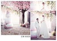 vinyl floor tile - Photo Backdrops Digital Printing Backdrops Pink Peach Blossom Floor Tiles Backgrounds Vinyl Backdrops Photography Fondos For Wedding