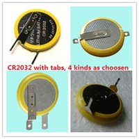battery tab welding - 1000pcs Solding Welding CR2032 Button cell battery with Pins Tabs