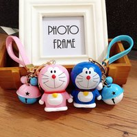 automotive movies - 2016 Special Offer Rushed Promotion Rubber d Keychains for Doraemon Alloy Key Rings for Bag Decoration Automotive Chain