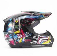 Wholesale Adult motorcycle motocross Off Road Helmet Downhill MTB DH racing helmet cross Helmet bike helmet Goggle As Gif