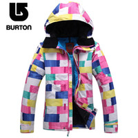 Wholesale Hot Sale OFF Original Burton Women Snowboard Skiing Jacket Professional Skiing Hoodie Jacket MM Waterproof Ski Jacket