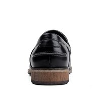 alta heels - 2016 Nuovo di Alta Qualità Del Cuoio Genuino di Lusso degli uomini Mocassini A Punta Slittamento della punta sulla Piattaforma Della Mucca U