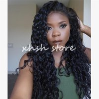 Wholesale Virgin Hair Loose Deep Wave Wigs Brazilian Human Hair Full Lace Wigs Glueless Lace Front Wigs For Sexy Women