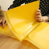 (Al por mayor de 16 pedazos / porción) impermeable durable libro de papel A4 de archivo estilo de la oficina del rectángulo carpeta de documentos bolsillo interior Inicio Escuela color de la mezcla