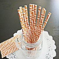 best choice foods - Best choice Geometric paper straws disposable food contact Wedding party festival supplies decor