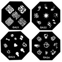 Wholesale Nail Art Stamp Template Steel Plate Nail Art Salon Image Stamping Plates Manicure Template Stencil Stamp Plates Polish Image Manicure Tools