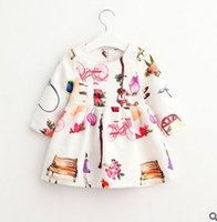 balloon bicycle - Cartoon Girls Dress New Autumn bicycle balloon Printed Long Sleeve Kids Princess Dress Fall Children Party Dress Boutique Clothing