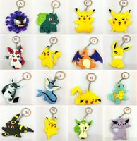 ball promotion - Pocket Monster keychain Poke Silicone Pendant Pikachu Poke Ball Keychain Double Sided Design Key Chain Kids Gifts