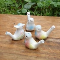 Wholesale 200pcs dropship new arrival water bird whistle clay bird ceramic Glazed bird whistle peacock Birds