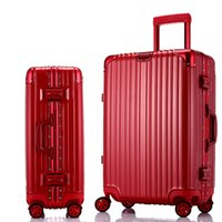 Wholesale Factory direct aluminum box trolley suitcase caster students suitcase luggage