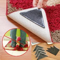 Wholesale 4x Rug Carpet Mat Grippers Non Slip Anti Skid Reusable Washable Silicone Grip Home Textile JS G01