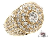 Wholesale Mens Diamond Ring Round Cut G Color k Yellow Gold ct