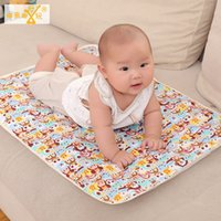 Wholesale Factory Direct Cartoon Printed Pure Cotton Waterproof Thicken Baby Changing Pads cm cm