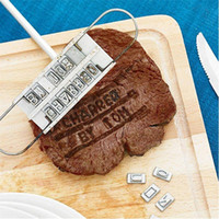 Wholesale Personality Steak Meat Barbecue BBQ Branding Iron changeable Letters Tool Sets NG4S