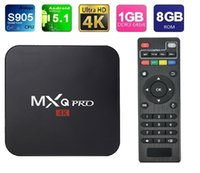 Wholesale MXQ Pro TV Box Amlogic S905 KODI Box XBMC Stream Media Player G G WIFI Kodi Fully Loaded Support ShowBox Mobdro Free Sports Movies
