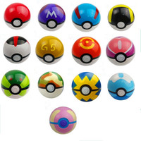 Wholesale 13pcs Cute Poke Ball Pokeball Mini Model Classic Anime Pikachu Super Master Ball Action Figures Toys cm