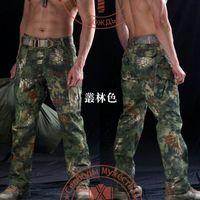 Wholesale Men s Kryptek Snake Camouflage Tactical Cargo Pants New Mens Mandrake Typhon Grain Printing TACTICAL Trouser Anti tear