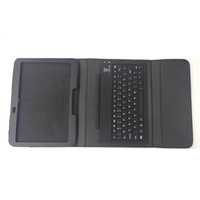 Wholesale Bluetooth Keyboard For Samsung GALAXY Tab3 GT P5200 P5210 Protective Slim Lined Leather Case black