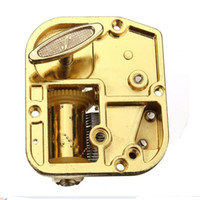Wholesale High Standard New Hot Sale Unique Notes DIY Mechanical Musical Box Golden Movement Screws Castle In The Sky Key Great Gift