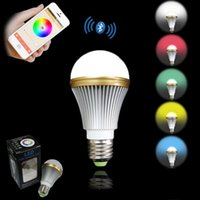 apple rgb - E27 Intelligent RGB bluetooth led bulbs creative dazzle colour color ball steep light mobile phone APP android apple bluetooth control light