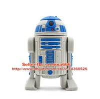 Wholesale Star Wars USB Flash Drive R2D2 GB USB Stick GB R2 D2 Robot Pen Drive GB USB GB Pendrive U disk