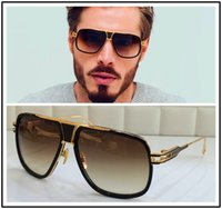 big cases - DITA sunglasses dita grandmaster five men brand designer sunglasses retro vintage shiny Kgold coating mirror lens big frame original case