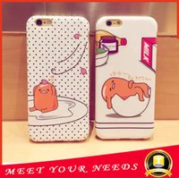 apple eggs - Iphone phone cartoon cases Lazy egg PC Case Cover For iPhone plus case opp packaging