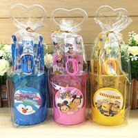 Wholesale Cartoon Frozen Pony Minion Stationery Set Students kids gift With Pen container Ruler Eraser