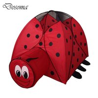 Wholesale Cute Cartoon Coccinella Septempunctata Play Tent Children Waterproof Foldable Playhouse Kids Tunnel Tent Outdoor Beach Tent