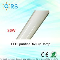 Wholesale led tube lights ft purified ceiling lamp light fixture w White luxury gold color LED batten ceiling light fixture
