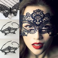 Wholesale Free FEDEX DHL Lovely Lace Halloween Masquerade Venetian Party Half Face Mask Lily Woman Lady Sexy Mask For Christmas L65 Z
