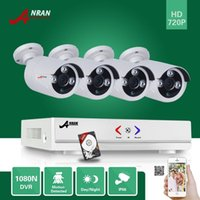 ANRAN Surveillance PlugPaly 4CH 1080N H.264 AHD DVR HDMI 1800TVL 720P Array IR CCTV Système de caméra vidéo de sécurité 500GB HDD