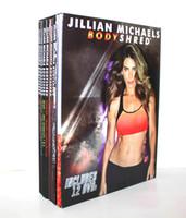 Wholesale Jillian Michaels Bodyshred DVDs Fitness Workout Rotational Calendar Meal Plan Fitness Guide