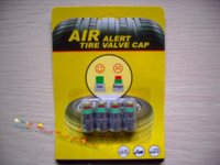 Wholesale 1 Set BAR BAR BAR Car Tyre Tire Pressure Monitor TPMS car valve cap indicator retail package Dropshipping